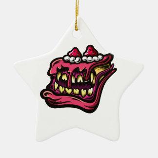 Cake Monster Ceramic Ornament