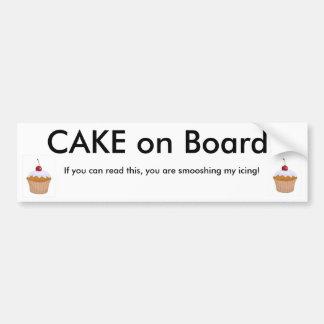 Cake on Board! Car Bumper Sticker