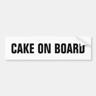 Cake on board bumper sticker