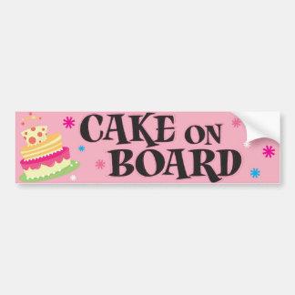 Cake on Board Car Bumper Sticker