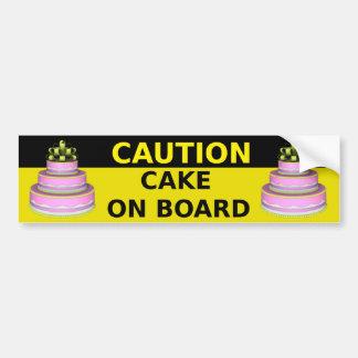 Cake On Board Sticker Car Bumper Sticker