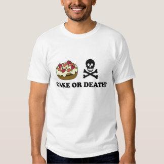 cake or death (chocolate) shirts
