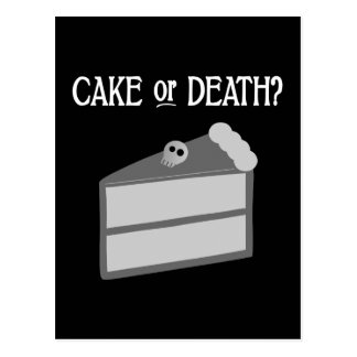 Cake or Death? Postcard