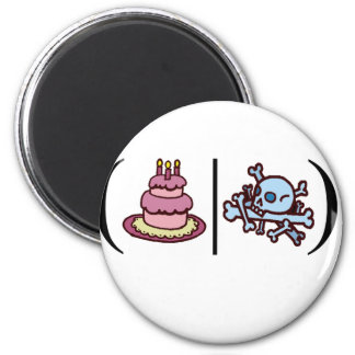Cake or Death- Regular Expression 2 Inch Round Magnet