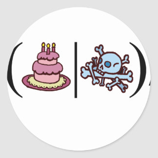 Cake or Death- Regular Expression Classic Round Sticker
