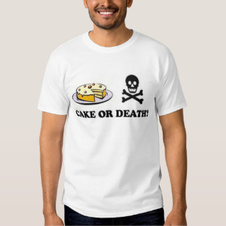 cake or death (vanilla) t-shirts
