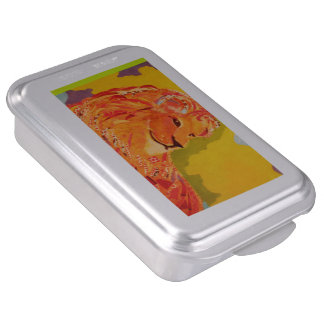 Cake Pan with Bold Lion