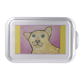 Cake Pan with Bright Cougar