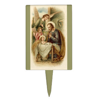 Cake Pick: St. Joseph Nativity Cake Topper