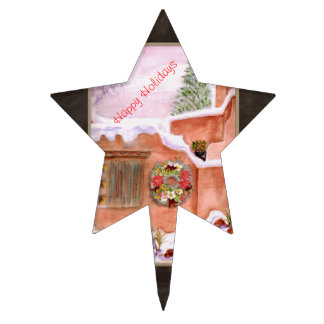Cake Pick Topper Happy Holidays Star