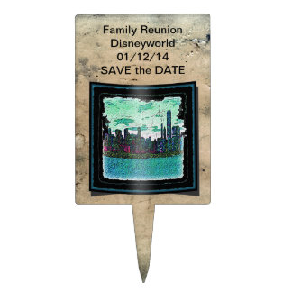 "Cake Pick / Topper Save the Date ""Family Reunion"""