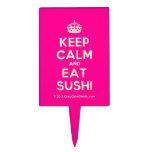 [Crown] keep calm and eat sushi  Cake Picks