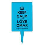 [Crown] keep calm and love omar  Cake Picks