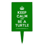[Crown] keep calm and be a turtle  Cake Picks
