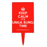 [Crown] keep calm it's bunga bunga time  Cake Picks