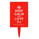 [Crown] keep calm and love pj  Cake Picks