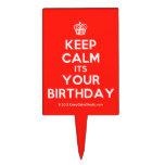 [Cupcake] keep calm its your birthday  Cake Picks