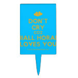 [Two hearts] don't cry coz niall horan loves you  Cake Picks