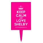 [Knitting crown] keep calm and love shelby  Cake Picks