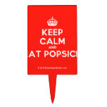 [Crown] keep calm and eat popsick  Cake Picks