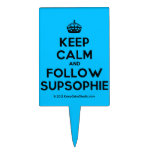 [Crown] keep calm and follow supsophie  Cake Picks