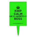 [Crown] keep calm que o jacinto é o boss  Cake Picks