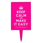 [Crown] keep calm and make it easy  Cake Picks