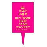 [Knitting crown] keep calm and buy some hair from xsquisit  Cake Picks