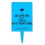 [Two hearts] i #love b5 hot tall boys that melt  Cake Picks