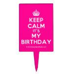 [Crown] keep calm it's my birthday  Cake Picks