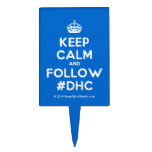 [Crown] keep calm and follow #dhc  Cake Picks