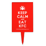 [Cutlery and plate] keep calm and eat kfc  Cake Picks
