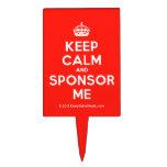 [Crown] keep calm and sponsor me  Cake Picks