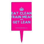 [Crown] eat clean train mean and get lean  Cake Picks