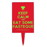 [Chef hat] keep calm and eat some pasteque  Cake Picks