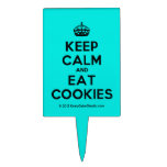 [Crown] keep calm and eat cookies  Cake Picks