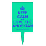 [Crown] keep calm and love the janoskians  Cake Picks