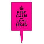 [Crown] keep calm and love §ekå®  Cake Picks