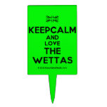 [UK Flag] keepcalm and love the wettas  Cake Picks