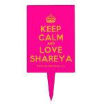 [Crown] keep calm and love shareya  Cake Picks