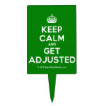 [Crown] keep calm and get adjusted  Cake Picks