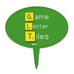 Game Letter Tiles  Cake Picks