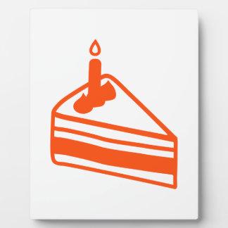 Cake piece plaque