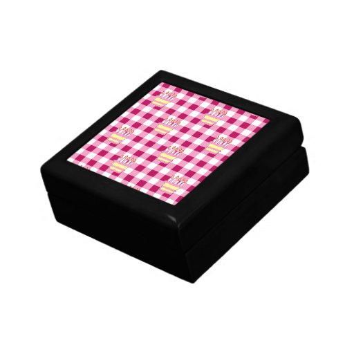 Cake Pink Checkered Pattern Gift Boxes