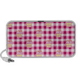 Cake Pink Checkered Pattern iPod Speakers