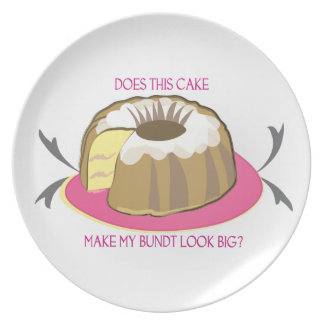 Cake Plate: Does This Cake Make My Bundt Look Big? Melamine Plate