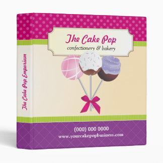 Cake Pop Business 3 Ring Binder
