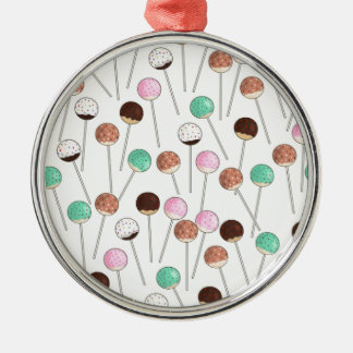 Cake Pop Design Metal Ornament