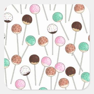 Cake Pop Design Square Sticker