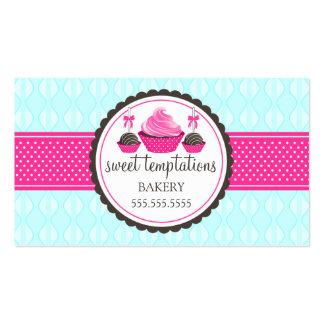 Cake Pops and Cupcake Aqua Pink Business Cards
